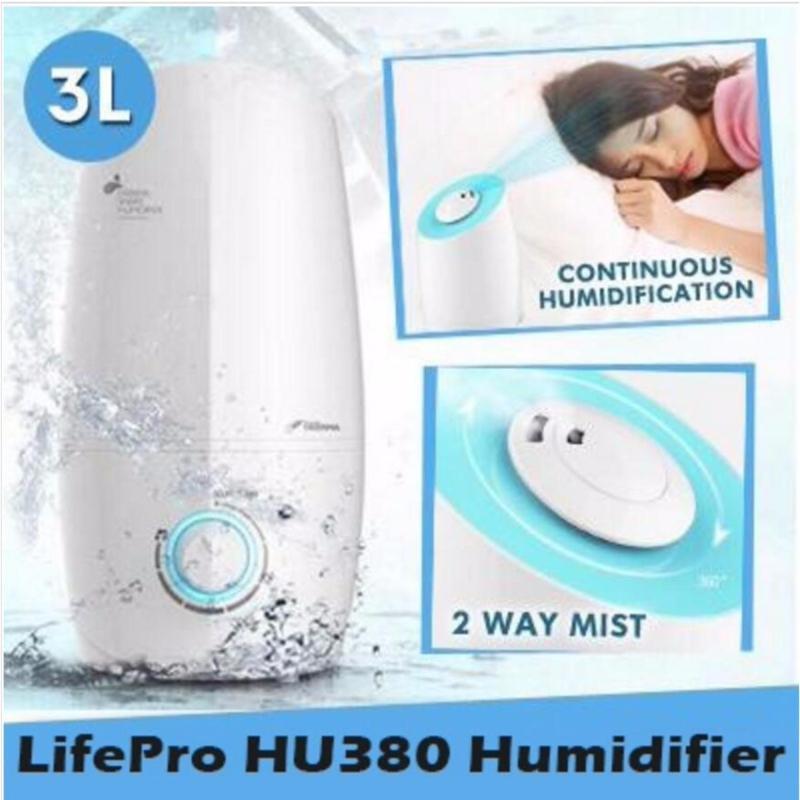 Lifepro HU380 3L Humidifier With Aroma Function/ Singapore safety mark plug/ English Manual Singapore
