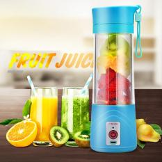 Sale Loveu Usb Juicer Cup Fruit Mixing Machine Portable Personal Size Eletric Rechargeable Mixer Blender Water Bottle 380Ml With Usb Charger Cable Portable Juice Blender And Mixer Blue Intl Loveu On China