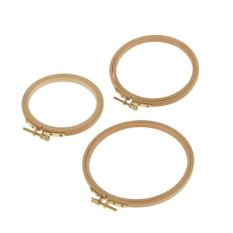 Magideal Beechwood Wooden Embroidery Hoop Set With Scr*w For Tapestry Cross Stitch Intl For Sale Online