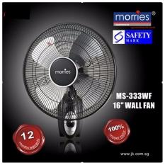 Best Rated Morries Ms 333Wf 16 Wall Fan Pull String Control Black