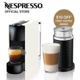Retail Price Nespresso Essenza Mini Coffee Machine White Aeroccino Milk Frother Bundle