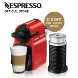 Sale Nespresso Inissia Coffee Machine Red Aeroccino Milk Frother Bundle Nespresso Original