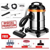 Latest New Heavy Duty Powerful 1200W 3 In 1 Dry Wet Blower Vacuum Cleaner With 15L Stainless Steel Container Free 9Pcs Set Cleane