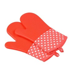 Niceeshop 7 Color High Quality Heat Resistant Silicone Bbq Gloves Kitchen Cooking Baking Bbq Microwave Glove Kitchen Tool - Intl By Nicee Shop.