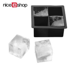 Niceeshop Black Ice Squares Molds Silicone Cube Tray Mould Makes For Whisky Wine By Nicee Shop.