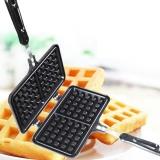 How To Get Niceeshop Pie Iron Sandwich Cooker Waffle Grill Snack Maker Cake Baking Pan Nonstick Double Sided Iron Pressure Pan With Handles Black Intl