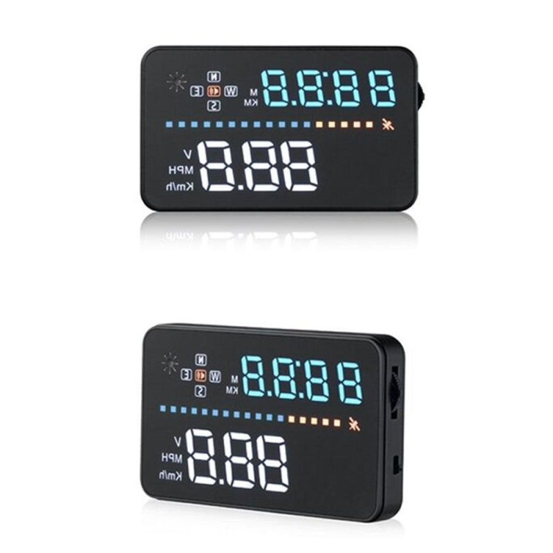 ninror New Universal 3.5 Car A3 Hud Head Up Display With OBD2 Interface OverSpeed Warning Plug Play Vehicle Speed, Engine Speed, Water Temperature - intl Singapore