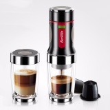How To Get Portable Hand Press Coffee Maker Black White Intl