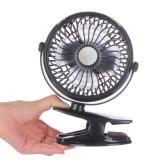 Discounted Portable Mini Clip On Usb Fan Table Desk Stroller Fan Black