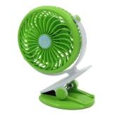 Review Portable Mini Clip On Usb Fan Table Desk Stroller Fan Green Oem