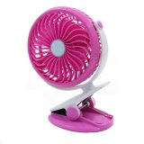 Discount Portable Mini Clip On Usb Fan Table Desk Stroller Fan Pink Singapore