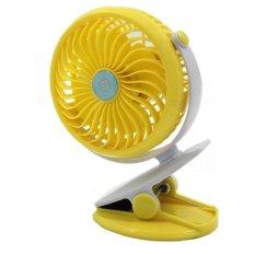 Portable Mini Clip On Usb Fan Table Desk Stroller Fan Yellow Coupon
