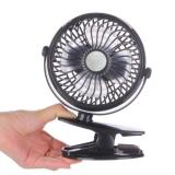 Low Price Portable Mini Clip On Usb Stroller Fan Black