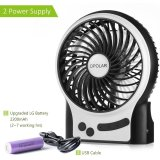 Discount Portable Rechargeable Fan Mini Usb Fan With Upgraded 2200Mah Personal Cooling For Traveling Hiking Fishing Camping Or Desktop 3 Speeds With Led Light Intl Baffect On China