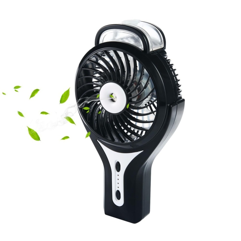 powercreat Misting Fan, 2 in 1 Mini Handheld USB Misting Fan with Personal Cooling, Mist Humidifier Portable for Home Office and Travel, Built in 2200mAh Rechargeable Battery. - intl Singapore