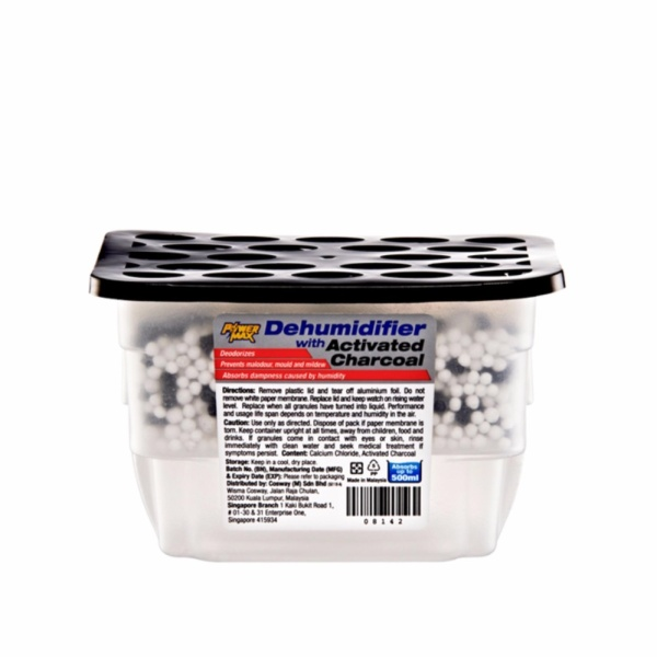 PowerMax Dehumidifier – Charcoal (3pcs x500ml) Singapore