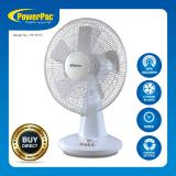 List Price Powerpac 16 Inch Desk Fan With Oscillation Timer Pptf16 Powerpac