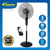 Powerpac 16 Inch Electric Stand Fan With Remote Control Ppfs300R Free Shipping
