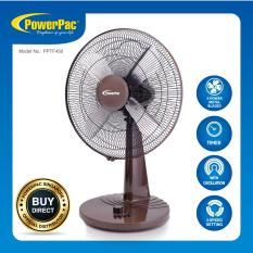 Discount Powerpac 18 Inch Desk Fan With Oscillation Pptf450