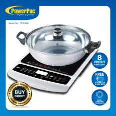 Low Cost Powerpac Induction Cooker With Stainless Steel Pot Overheat Protection Ppic848
