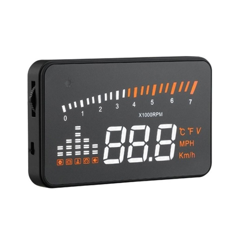 quzhuo Universal 3 Car X5 Hud Head Up Display Compatible With OBD II EOBD Interface Plug Play KM/h MPH Speeding Warning - intl Singapore