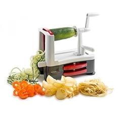 Stainless Steel Tri Blade Vegetable Spiral Slicer Spiralizer Intl Free Shipping