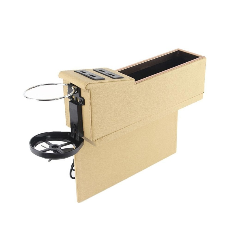tengxun Car Pocket Organizer Seat Console Filler Side with Foldable Cup Holder and 4 USB Charge Port - intl Singapore