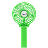 Latest Topwell Rechargeable Handheld Mini Battery Operated Rechargeable Fan Green Export