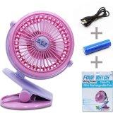 Buy Usb Mini Clip Table Fan Rechargeable Desktop Portable Electric Fan Intl Online