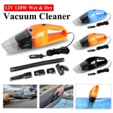 Sale Useful In Car 12V 120W Portable Wet And Dry Car Home Mini Handheld Vacuum Cleaner Orange Intl