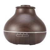 Compare Price Wooden Led Ultrasonic Aroma Humidifier Essential Oil Diffuser Eu 220V Dark Wood Intl Oem On China
