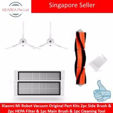 Sale Xiaomi Mi Robot Vacuum Original Part Kits 2Pc Side Brush 2Pc Hepa Filter 1Pc Main Brush 1Pc Cleaning Tool On Singapore