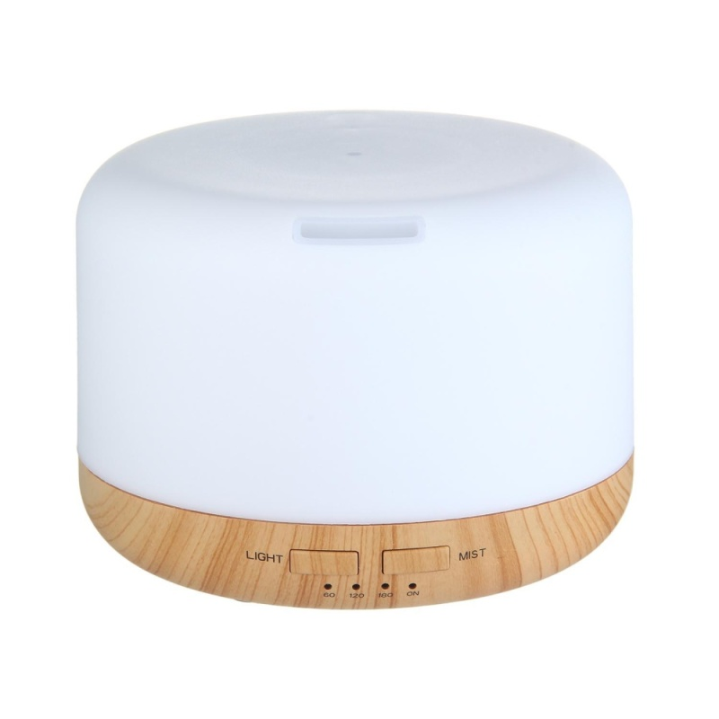 yiokmty 400ML Oil Aroma Diffuser Ultrasonic Mist Humidifier LED 7-Color Changing Light (US/CA/JP/BR/MX) - intl Singapore