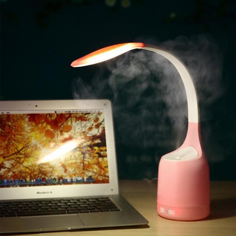 yooc Multifunction Humidifier Air Purifier USB Rechargeable Bedroom Energy Saving Night Light LED Eye Care Desk Lamp - intl Singapore
