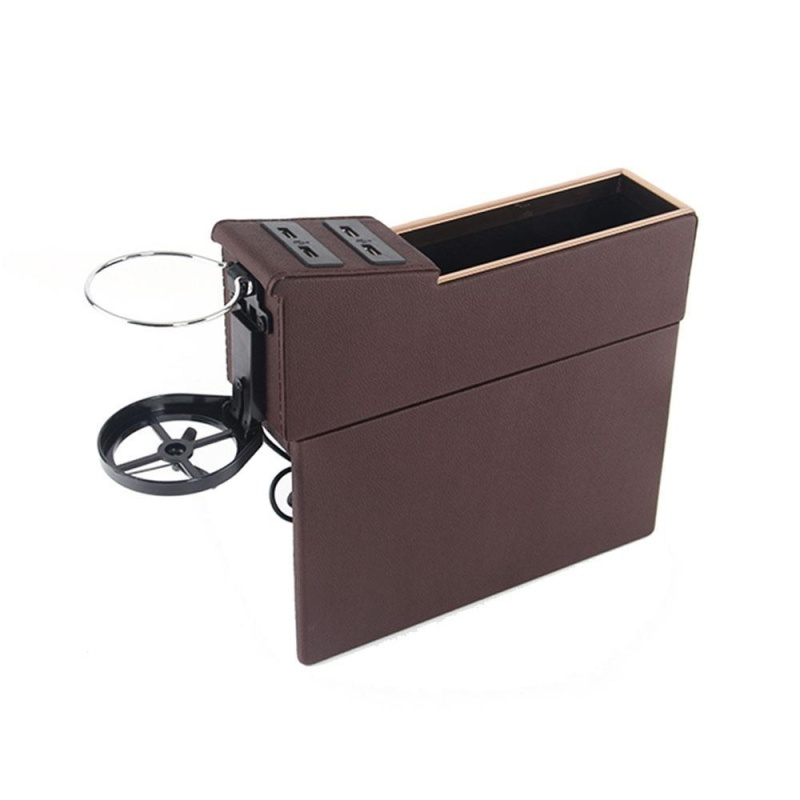 zeawhc Car Pocket Organizer Seat Console Filler Side with Foldable Cup Holder and 4 USB Charge Port - intl Singapore