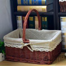 Discount Zhu Yun Outdoor Rattan Wicker Travel Picnic Basket Storage Basket