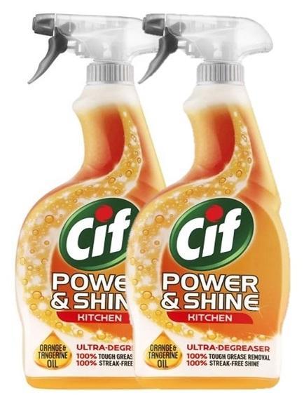 Cif Power And Shine Kitchen Spray 700ml (2pcs) By Pd Tech.