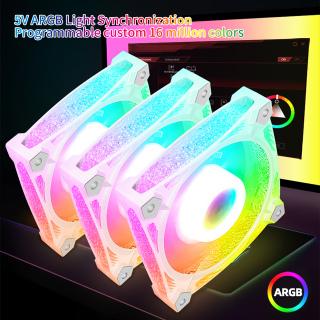 Nicront Ốp Lưng COOLMOON Quạt Làm Mát PC Đèn RGB 12Cm Điều Khiển Từ Xa Cho Gia Đình Ốp PC thumbnail