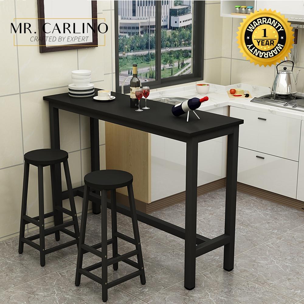 KIEL Living Room Simple Bar Table Set with 2 Stool
