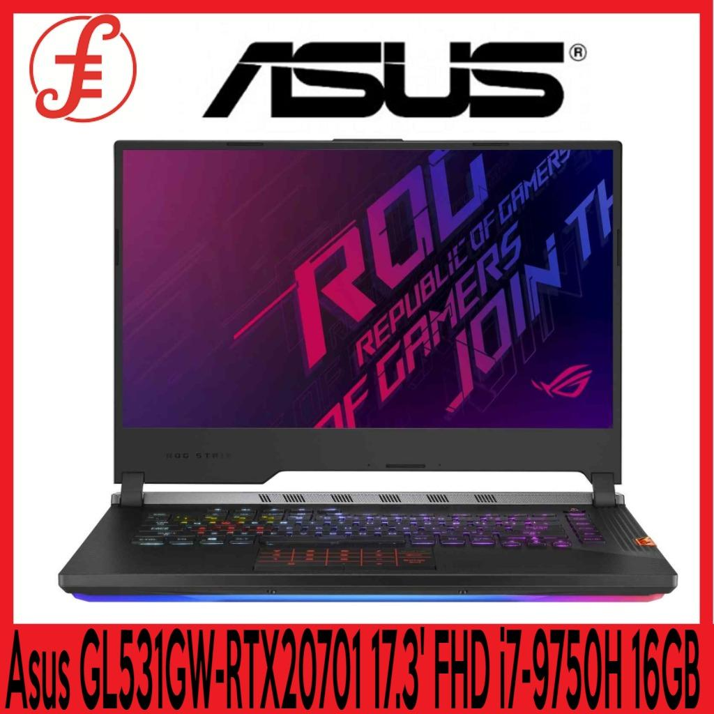 Asus GL531GW-RTX20701 (17.3 FHD( 1920x1080), 240Hz / i7-9750H Processor / 16GB DDR4 / PCIE NVME 1TB M.2 SSD NVIDIA® GeForce RTX™ 2070 (GL531GW-RTX20701)