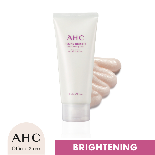 Buy AHC Peony Bright Deep Cleansing Foam 140ml (For hydrated and brighter skin) Singapore