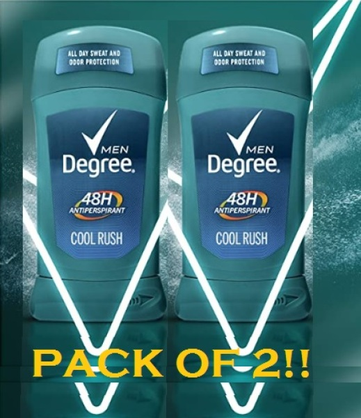 Buy (NEW FROM USA!!) Degree Men Antiperspirant Deodorant Odor & Sweat Protection Cool Rush 48 hour 2.7 oz - 2 count Singapore