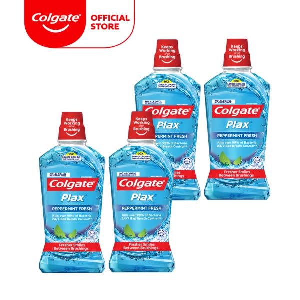 Buy Colgate Plax Peppermint Mouthwash 1L [Bundle of 4] (1525386-4) Singapore