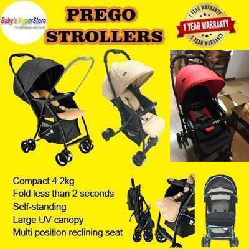 Prego S507 Simple Reversible Handle Stroller - Reversible Handle Stroller - ONLY 4.2KG - ADJUSTABLE FOOTREST - One hand fold Singapore