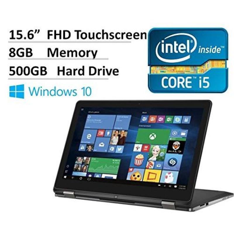 2016 Dell Inspiron 15.6 2-in-1 Full HD Touchscreen Convertible Laptop, Intel Core i5-6200U Processor, 8GB RAM, 500GB HDD, Webcam, HDMI, Backlit Keyboard, Windows 10