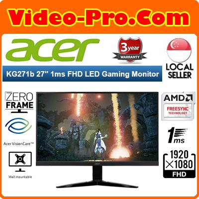 Acer KG271B 27Inch Full HD Gaming Monitor with 240Hz Refresh Rate and 1ms Response Time