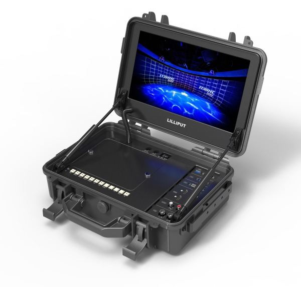 LILLIPUT MONITOR BM120-4KS 12.5 inch carry on 4K broadcast director monitor with suitcase