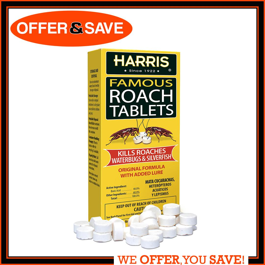 PF Harris	Famous Original Cockroach Silverfish Killer Tablets With Added Lure (145 Tablets)  (MADE IN USA)