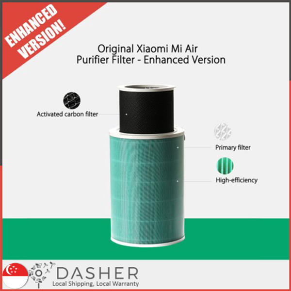XiaoMi Air Purifier Replacement HEPA Filter 3 Layers (ENHANCED Version) Mi Jia Mijia Anti-Formaldehyde Benzene with Coconut Activated Carbon Singapore