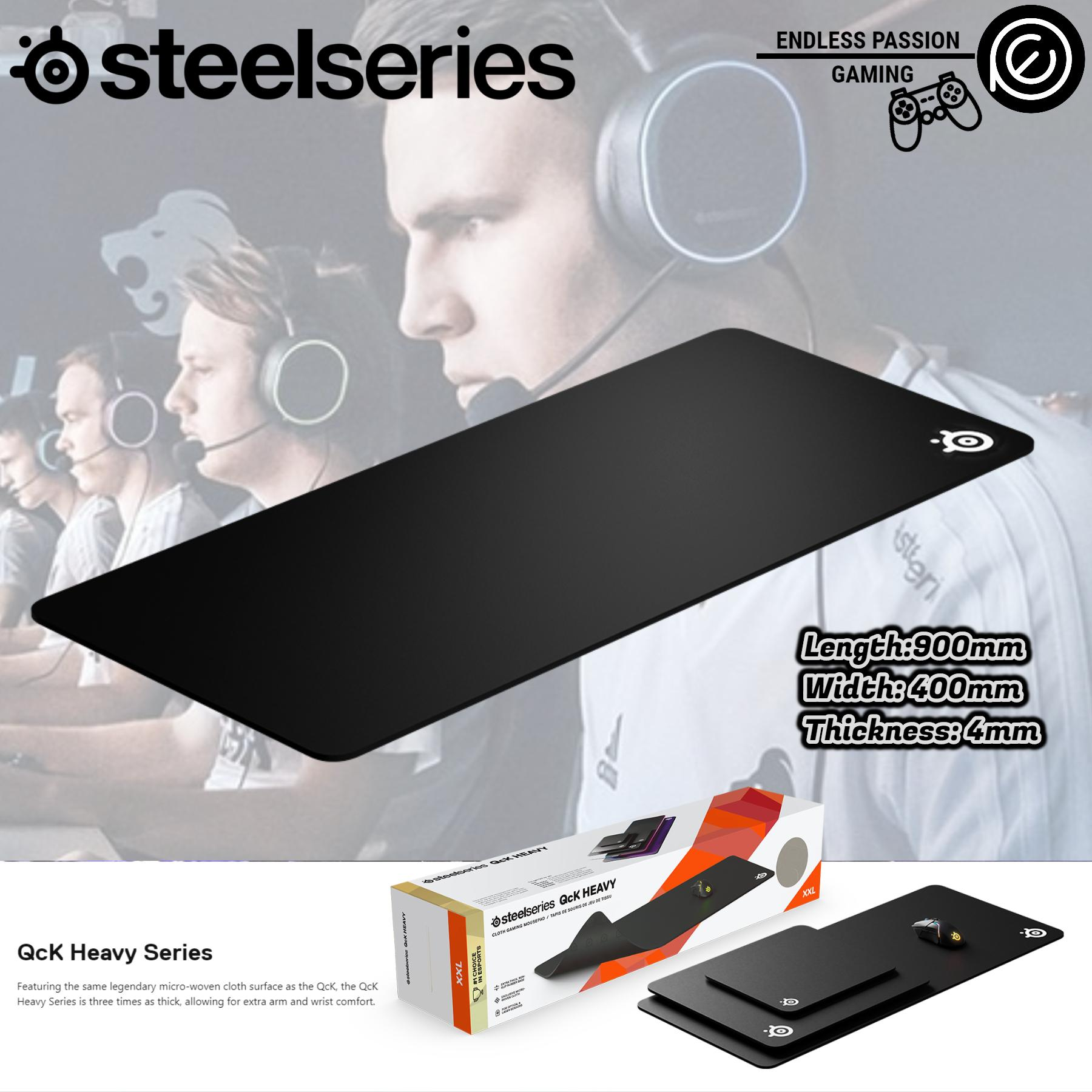 SteelSeries QcK Heavy Gaming Surface - XXL Thick Cloth - Best Selling Mouse Pad of All Time - Sized to Cover Desks